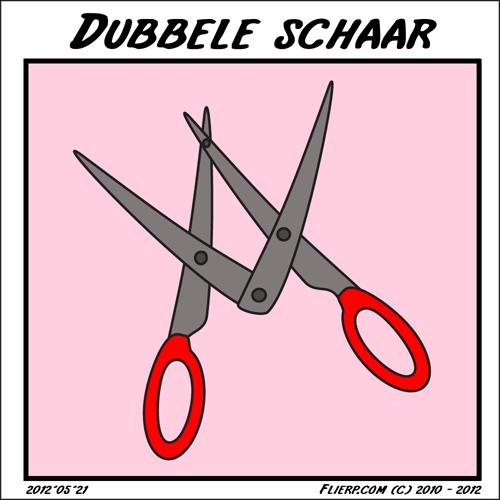 Dubbele schaar