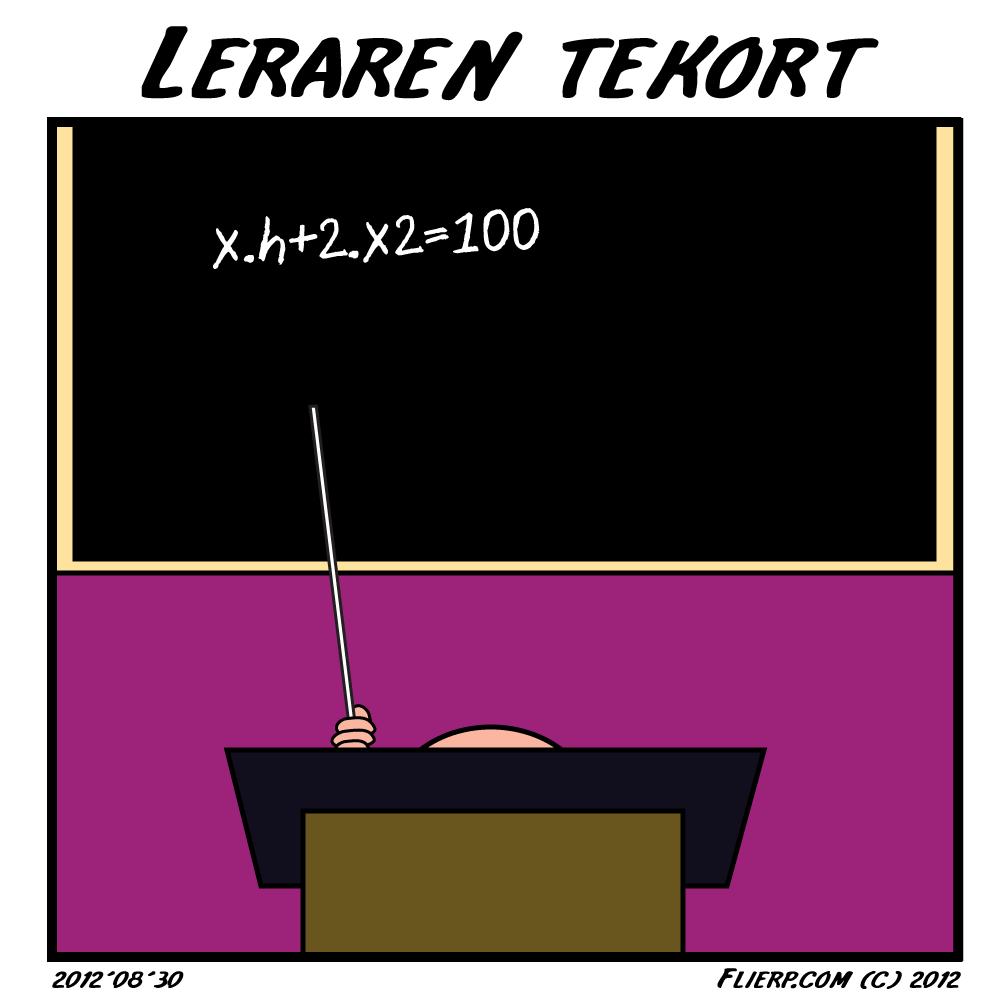 Leraren tekort