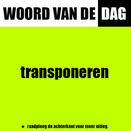 transponeren