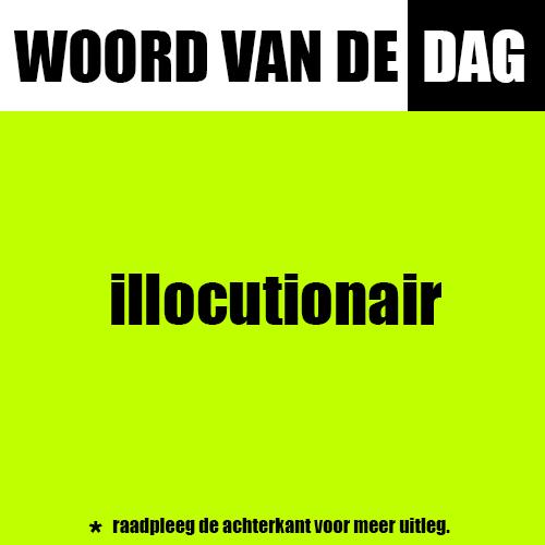 illocutionair